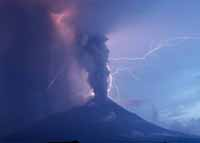 Mount Merapi. Eruption 2010.