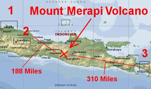 Mount Merapi. Indonesia.