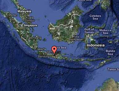 Merapi Volcano Google Map