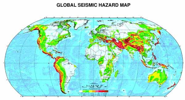 Карта Глобальной Сейсмической Опасности.