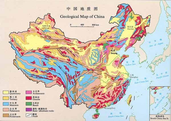 Geological Map of China.