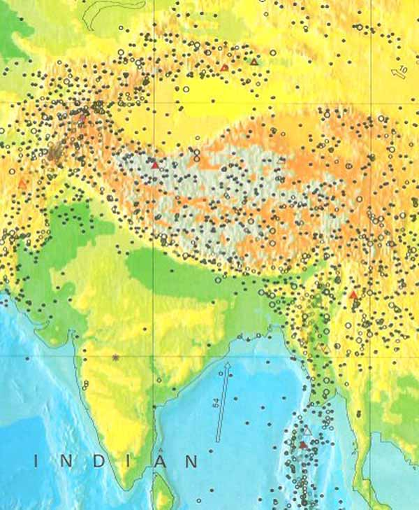 Earthquake Zones China Most Earthquakes in China