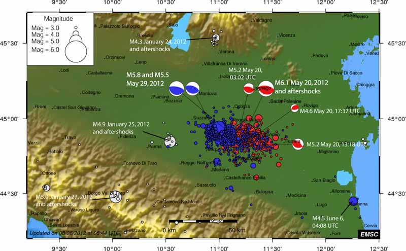 2012 Northern Italy Earthquakes.