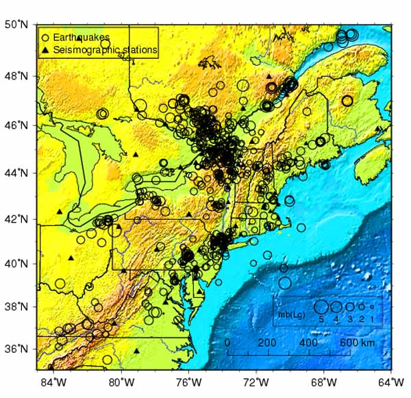 Seismicity of New York. (1990 – 2003).